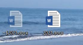 windowsに$マークがついたファイルが表示される Let's noteでwoldやexcelのファイルを開くと、開いたファイルと同名で先頭に$がついたファイルがデスクトップに出現します(添付...