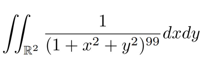 広義重積分の問題です。 変数変換などいろいろ試してみましたが解にたどり着けずという感じです。 よろしくお願いします。