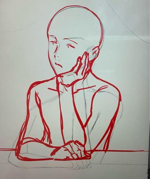 こちら他の方が描いたものなのですがこの骨格をアニメ風の中高生の女の子の骨格で描いてほしいです 合わせて肉を直す作業が苦手で変な感じになってしまいます...