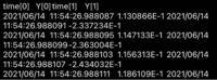 オシロスコープの電子データ(数値)に関するtxt(Excel)ファイルについて質問です。写真の様なデータが得られたのですが、このまま時間軸をx、電圧軸をy軸にしてグラフ化すると上手くいきません。恐らくx軸のこの日付 を消去出来れば良いのでしょうが方法が分かりません( ̄▽ ̄;)何方かオシロスコープの時間に対する電圧波形の作り方を御教授願いたいです。