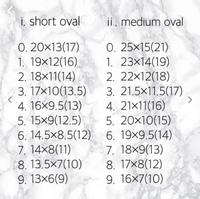ネイルチップのサイズがこうやって載っている場合って()の中の数字をみて注文すればいいんですか?