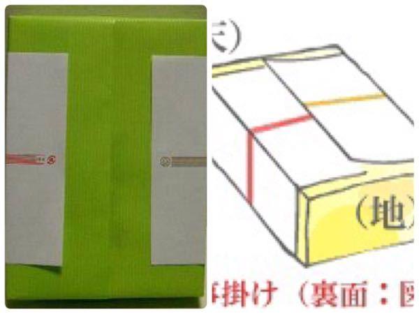 熨斗の掛け方について質問です。 熨斗の水引きが重ならなくても(画像の左)問題ないですか?
