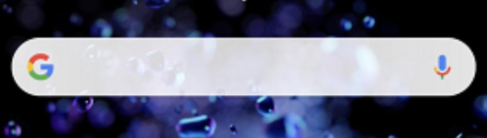 スマホは、SONYのXperia8を使用しております。ホーム画面のGoogle検索バーに以前は、写真のように 左側にG、右側にマイクのマークが表示されていたのですが、両方表示されなくなりました。その部分を押すと検索はできます。