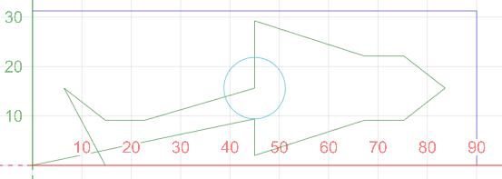 NCVCでGコードを作ってCNCjsに送るとNCVCで表示される軌跡とCNCjsで表示される軌跡が違います。 実際に機械を動かすと本来13か所ある穴は真上まで行くのですが刃物が降下せず、さらに穴の数も11か所に減っています。 出力されたGコードは以下の通りです。 13か所穴をあけて丸を書いて四角を書くコードです。 % G90G54G92X0Y0Z10. M08 S5000M03 G99G82X22.75Y22.125Z-0.1R1.P10.F60. X14.75 X6.4Y15.625 X14.75Y9.125 X22.75 X45.Y15.625 Y29.25 X67.25Y22.125 X75.25 X83.6Y15.625 X75.25Y9.125 X67.25 X45.Y2. G80 S3000 G00Y9.406 G01Z-0.1F100. G03Y21.844J6.219F300. Y9.406J-6.219 G00Z1. X0Y0 G01Z-0.1F100. X90.F300. Y31.25 X0 Y0 G00Z10. M09 M05 M30 % 機械はGRBLで制御しています。添付の画像はCNCjsで表示された軌跡です。 画像は上からの視点ですがほかの視点で見ても穴加工時は刃物が降下していません。 穴の数が減る理由、刃物が降下しない理由など何かわかりますか?