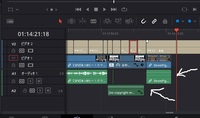 ダビンチリゾルブの使い方。動画をタイムラインに落として編集していると突然オーディオの波形がなくなり、無音になってしまいます。 対処法を教えて下さい。  DaVinci Resolve  ダビンチ・リゾルブ 動画編集