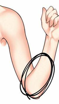 二の腕と、丸をつけたあたりのところを細くする方法を教えてください!