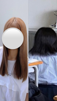 髪質改善についてです。 見えにくいかもしれないですが右が私です。  私の髪の特徴は 毛が太い、硬い うねりやパサつきがある 全体的に広がってしまう 毛量が多い  といったような髪質です。  改善するために洗い流さないトリートメントやヘアマスク、リンスをする前に水気をとってコームでとかしたりなど色々試しましたが写真のように全然ダメです。髪の毛のくせも毎朝ヘアアイロンでまっす...