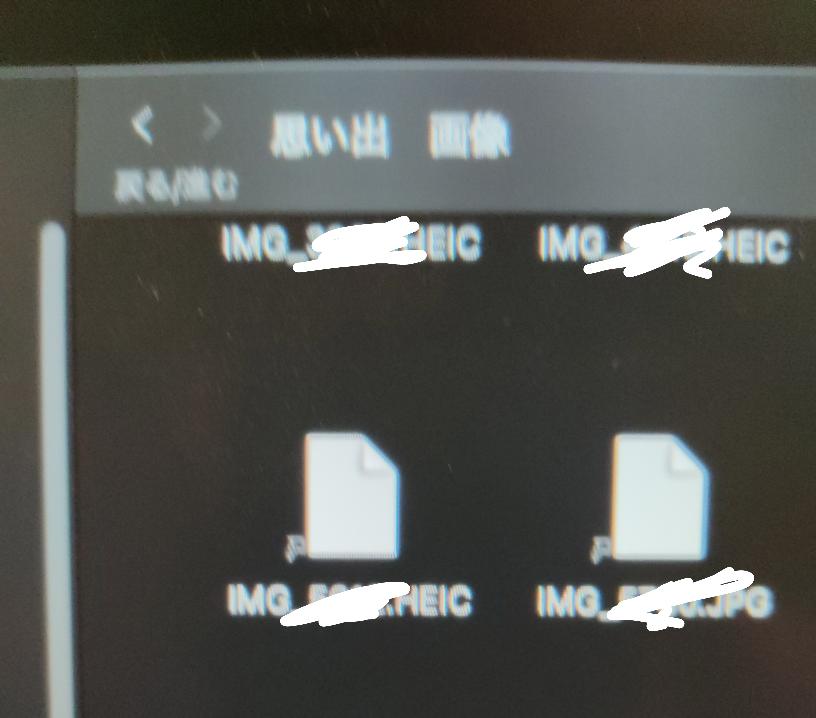 写真のファイルをそのエイリアスから復活させることは出来ますか?このように暗号?みたいのは全てわかるのですが。