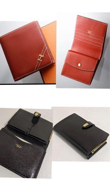 ヴィンテージのお財布、どちらが素敵ですか? 上がエルメス、下がGUCCIです。 どちらも折り財布でして、迷っています。 品があり、「素敵だなぁ!」と思うのはどちらですか?