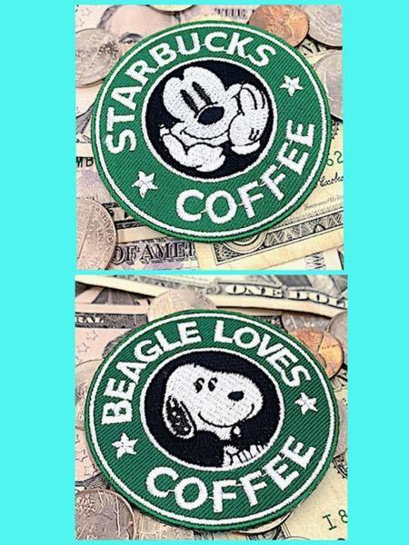 お礼 500枚。 ミッキーかスヌーピーのワッペンが欲しいのですが、どちらが可愛いですか? ちなみに、愛犬と服にお揃いで付けます。 飼い主のポロシャツは黒。 愛犬のポロシャツはスタバの緑に近い色。