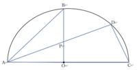 角度を求める問題が分かりません。  条件は、 ①点Oは扇形の中心 ②三角形BAPと四角形DPOCの面積が同じ ③角BOAは90度  求める角度は角BPDです。 条件から、三角形BAO=三角形DAC、BO:三角形DACの高さ=2:1と考えてみたのですが、そこで手詰まりになってしまいました。  どのように求めればよいのでしょうか。