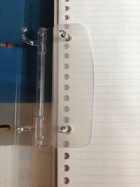 ルーズリーフバインダーを買ったのですが、この透明な切る前のかまぼこみたいな形のやつは何のためにあるんですか?