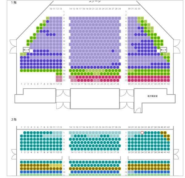 初めてJR東日本四季劇場[秋](浜松町・竹芝)で、オペラ座の怪人を観に行こうと思っています。 値段的にA席かB席で観たいです。 A席、B席のおすすめの座席位置を教えて下さい!