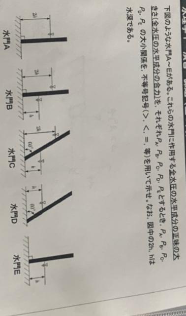 水理学の問題です。 こちらの問題はどうなるのでしょうか? あまり、意味がわかっていません。 よろしくお願いします!