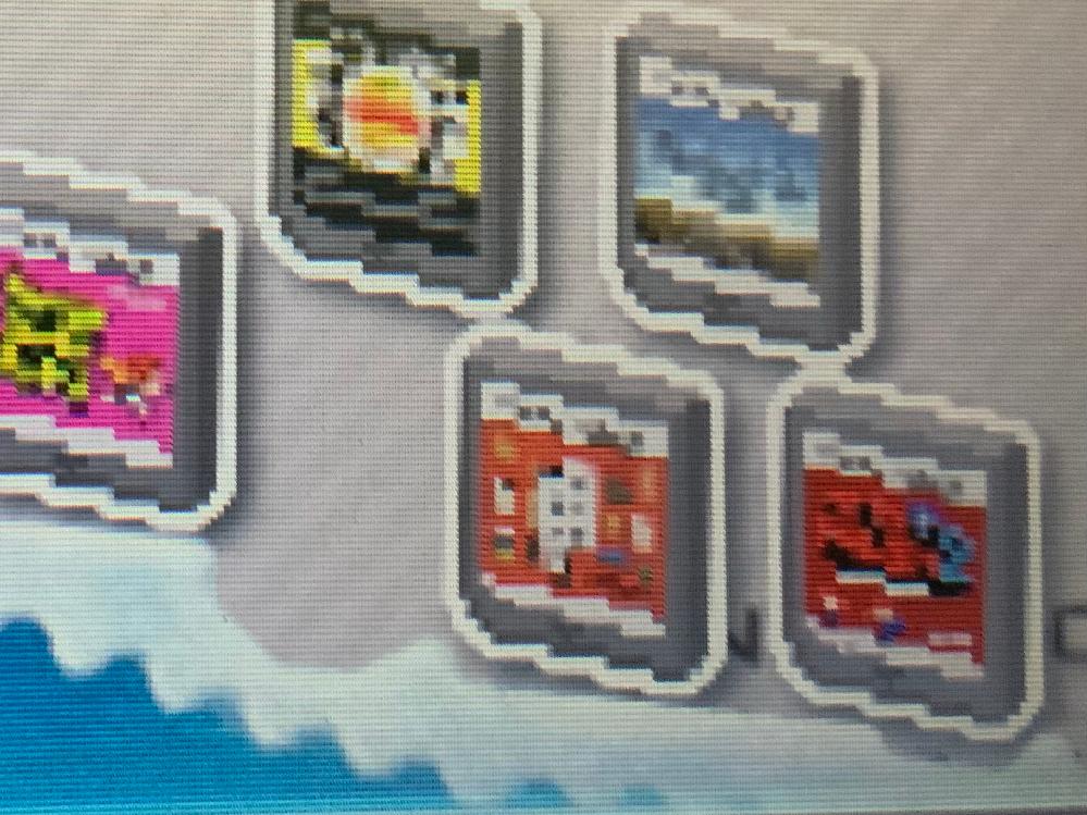 画像が荒いのですが、マリオvsドンキーコング2の真隣にあるカセットの題名を教えてください。 画像は3DSのバッチとれーるセンターです。