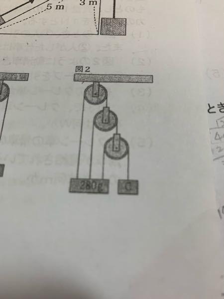 おもりCの重さを求めたいのですが、どうやって求めるのでしょうか。答えは40gでした。