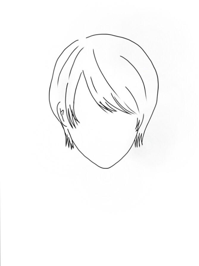 イラストが得意な方に、この画像の髪型についてもっとこうしたらいい!などのアドバイス頂きたいです。 アニメ 漫画 イラスト