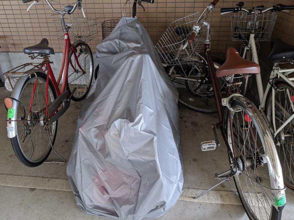 この置き方って邪魔だと思いますか? アパートの駐輪場です。 あるファミリーなのですが、カバーの中に、大人用の自転車、子供用の自転車、三輪車が入ってるのですが、どう思いますか? 赤い自転車がこのファミリーの自転車にめちゃくちゃぶつかって置いている時が多々ありまして、邪魔でわざとなのか意味はないのか気になりまして(^_^;) ちなみにこの駐輪場にはバイクもあって同じくらい幅を取ってる人もいます。 普段は他に置けそうなスペースはありません。 皆さんなら邪魔だと思いますか??