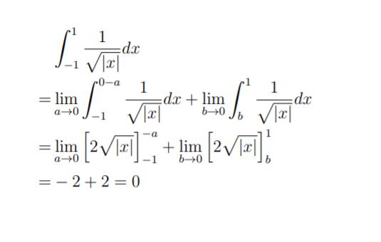 積分区間内に不連続点がある写真のような問題があります。私は写真のように解き答えが0となりました。しかし、正解は4でした。 どこかで符号が反転してしまっているのは分かるのですすがどこで間違えているのか分かりません。