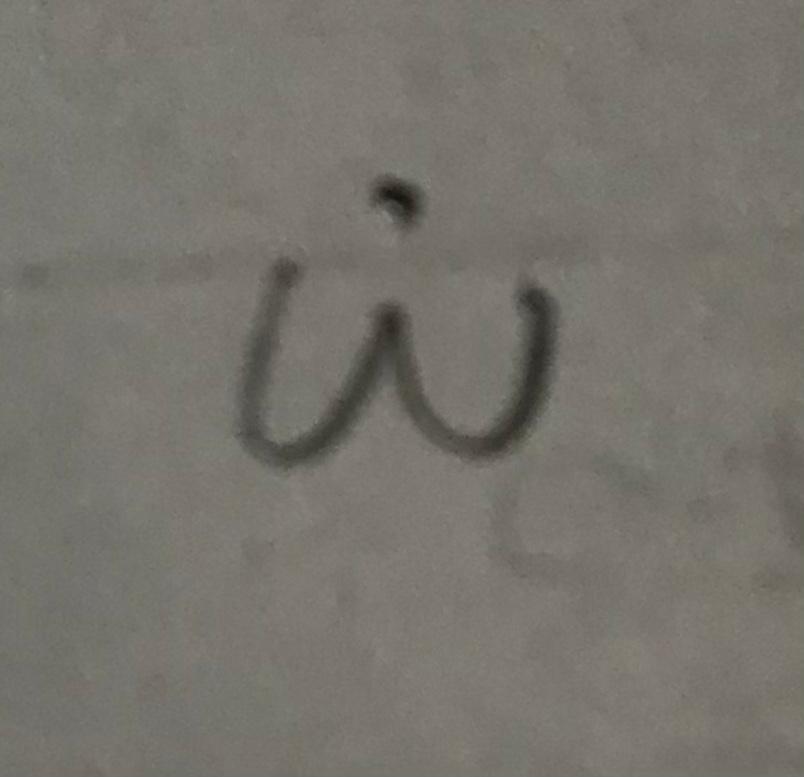 この記号(ωの上に・がついたもの)、パソコンで文字起こしできるでしょうか?
