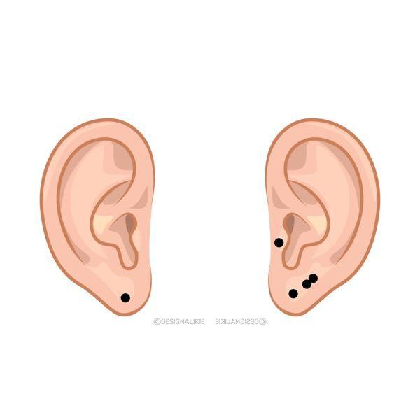 軟骨ににーどるでピアスを開けます。結構強めに押さないと貫通しませんよね? ちなみにトラガスです。 耳のたぶの辺りに画像のように2つ隣になるように開けたいのですが、この開ける感覚も一緒に教えて欲しいです!