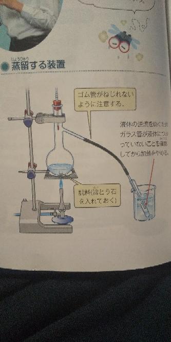 写真で液体が逆流するメカニズムが分からないんですが解説お願いします