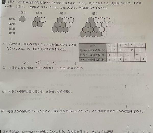 至急!中学数学です。中一の範囲 空白になっているところの解説をお願いします! 1問だけの解説でも大歓迎ですので!