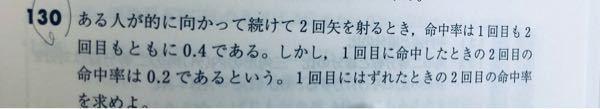 条件付き確率です。答えは8/15です。解説お願いします