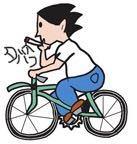 ベストアンサーを決めなかった質問です。 . この絵は、自転車に乗りながらタバコを吸ってます。 普通なら、ヤニチャリが正解ですが、私はもう少し長くして◯⚪︎◯◯⚪︎◯と言ってます。 全てカタカナで、この丸のどこかに、濁点が入ります。この絵を見た人は、何というか分かりますか?