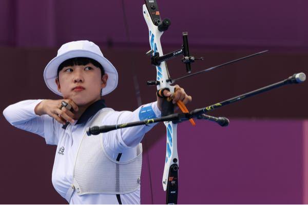 アーチェリーで韓国のアンサン選手が金メダル獲得しました。とても端正な顔していると思いませんか?誹謗中傷に負けないでほしいです。