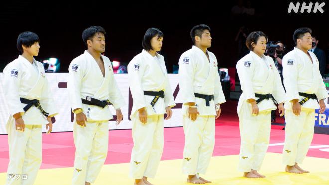 この左から3番目の女子柔道家の名前を教えてください。