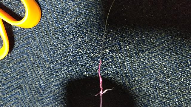 fgノットでpeの先端切ったらこのように毛羽立ったのですがこの毛羽立った部分きれて結束とれることもありますか?悪いハサミつかってしまいました