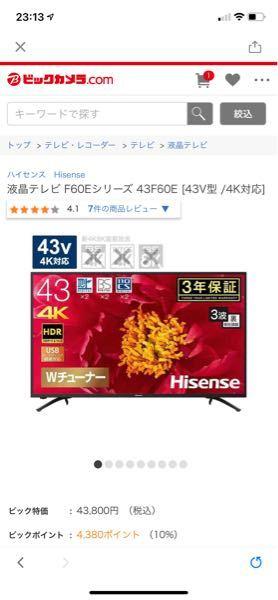 このテレビにAmazon Fire TV Stickは使用できますか?