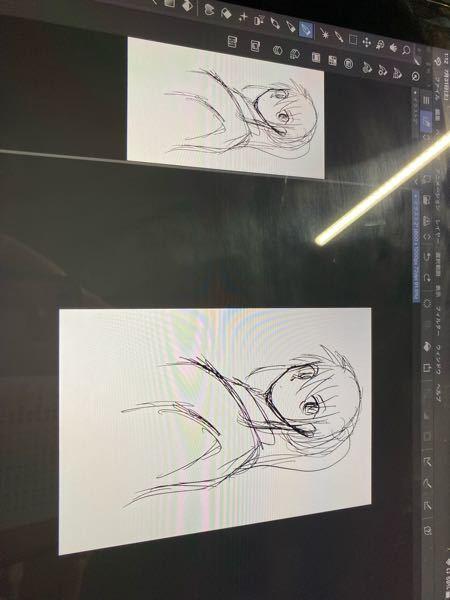 クリスタ 2画面にできたのですが、一方だけ反転ってどうできますか?編集→キャンパスを反転、とすると、どちらも反転してしまいます。