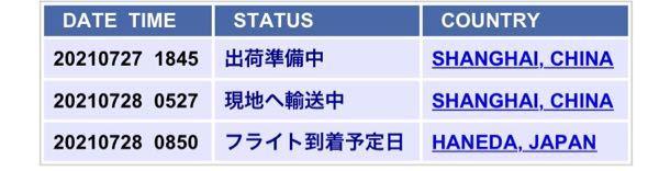 """中国通販で買い物をして、佐川急便で来るとのことで追跡してみたらこの画面で3日止まっています。 この""""フライト到着予定日""""とはどう言う意味でしょうか? そしてどのくらいで荷物は届くのでしょうか? 知ってるよーって方 教えていただきたいですm(_ _)m"""