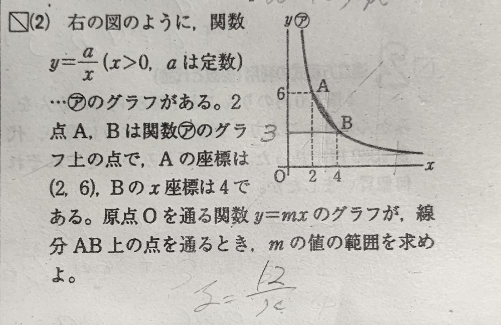 画像の数学の問題を教えてください。 bのy座標は求めています。