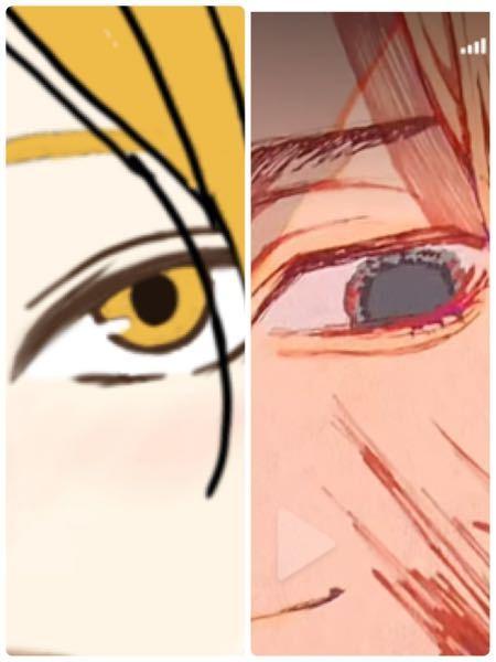 デジタルでイラストを描く時に、目を右側のように描きたいのに、どうしてものっぺりした感じになってしまいます、右のようにザラザラ?感が無くて、機械で描きましたっていう感じがすごく強くなってしまって、...