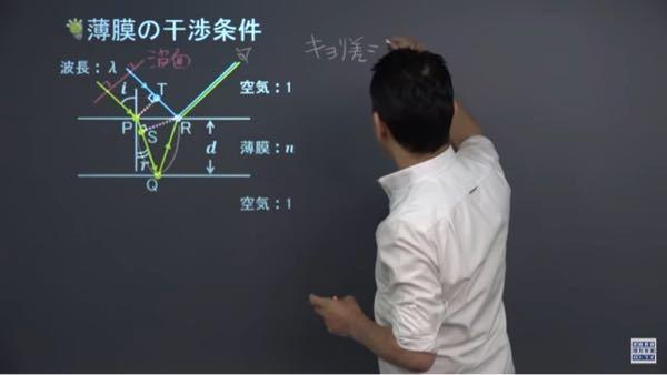なぜ距離の差は波面からSQ+QRとわかるのですか?いまいち理解できません、