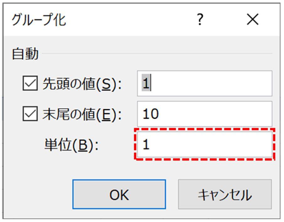 ピボットテーブルの「グループ化」について。 . 「単位」(画像点線赤枠)を複数設定する方法を教えてください。 0~2999、 3000~4999、 5000~9999、 10000~20000、 20000~30000、 といった感じでグループ化したいのです。