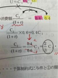 大卒公務員試験、ミクロ経済学です。 この↓の上下における計算なのですが、なぜこのような式変形になるのですか?