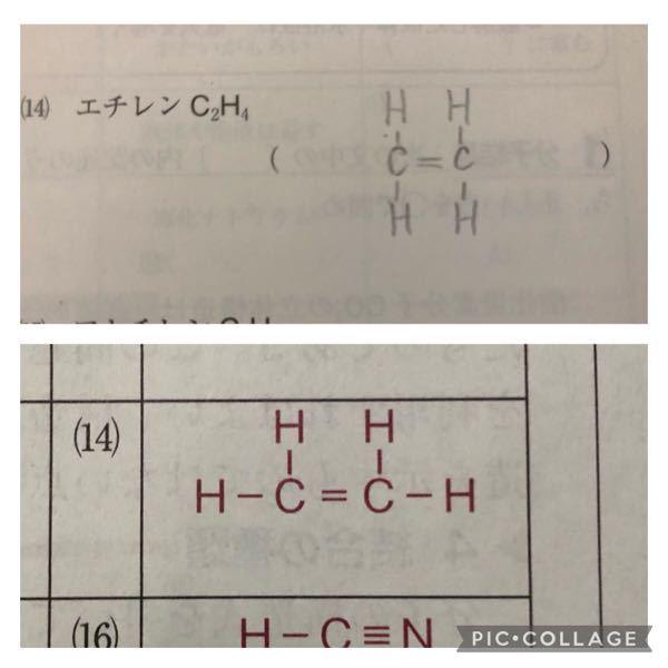 化学について。分子の構造式の元素の位置って決まりがあるのでしょうか。例えば、写真のようなものでも間違いとなるのでしょうか。