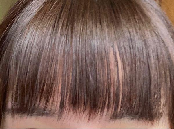 前髪美容院で切られたのですが、変ですよね?