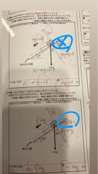 なんで(2)は摩擦力いらないのに(3)は摩擦力いるんですか?