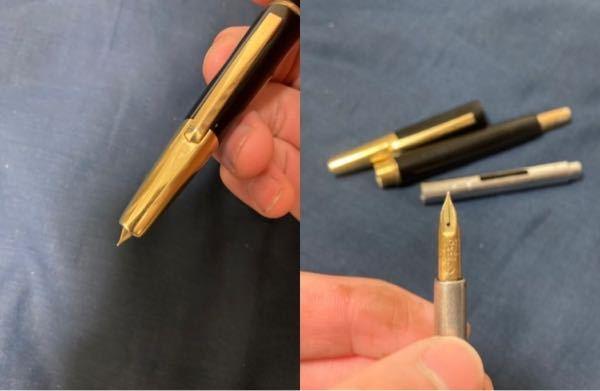 古いキャップレス 相当古いであろうパイロットのキャップレス万年筆を貰いました。ペン先が全然出ないのですが、これは壊れていますか?いつのものかも分かりません。 14金の物です。ペン先の太さは書いて...