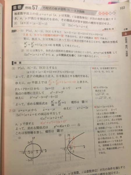 高校数学3 (1)の式にz=x+yiを代入し式変形して答えを導く解法は正しいのでしょうか?また正しい場合変形過程も教えてくださると幸いです。何度やっても上手くいきません、、