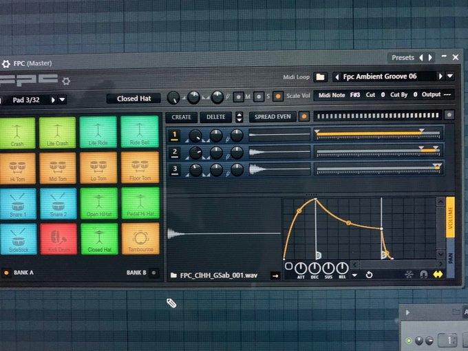 fl studio 20の中のfpcというやつの使い方がいまいちわからないです この1.2.3の2の音を使いたいのですが、2をオレンジにしても打ち込むと1の音が出てきます どうすれば2の音が出せますか