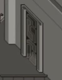 よくSFに出てくる、このようなドアの名前を教えて下さい ドア板があるわけじゃなくて、すり抜けるような