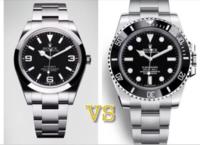 【究極の2択】 A エクスプローラー1 左のシンプルな時計 B サブマリーナ 右のゴツい時計  彼氏につけてほしいのはどっち?  ※理由も含めてお答えください。