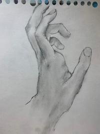 改善点等、デッサンの評価をして下さい。  モチーフは自分の左手です