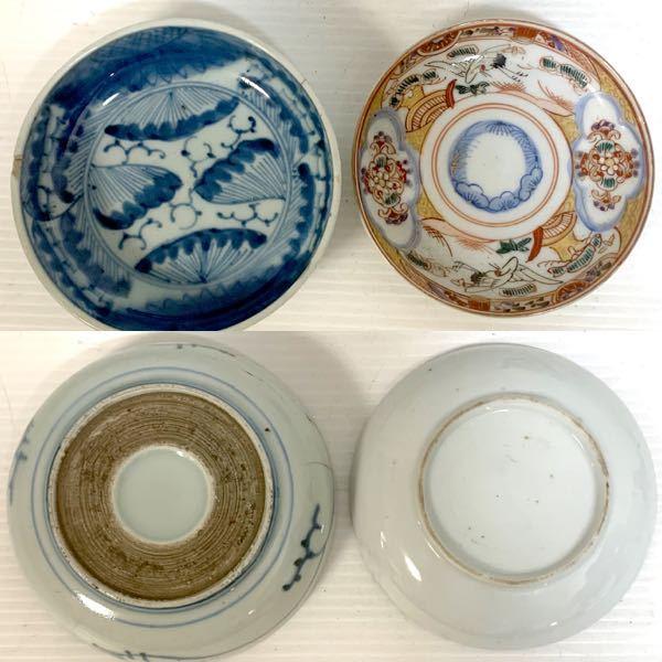 こちら古い食器なのですが 江戸?明治? 古伊万里か九谷焼か不明です。 写真で詳細がわかる方 いられましたら、よろしく お願いします。 チップあげます m(_ _)m